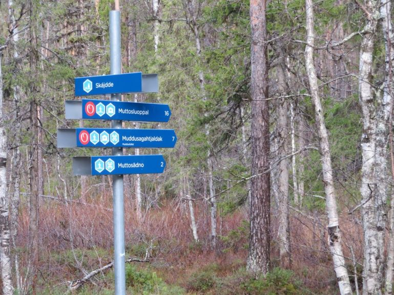 Start of the Muddusgahtjaldak trail