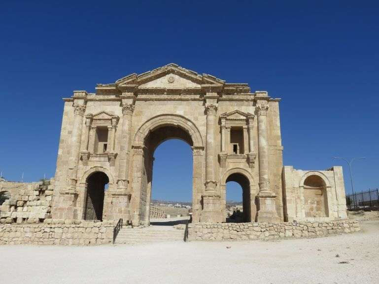Hadrian's arch in Jerash