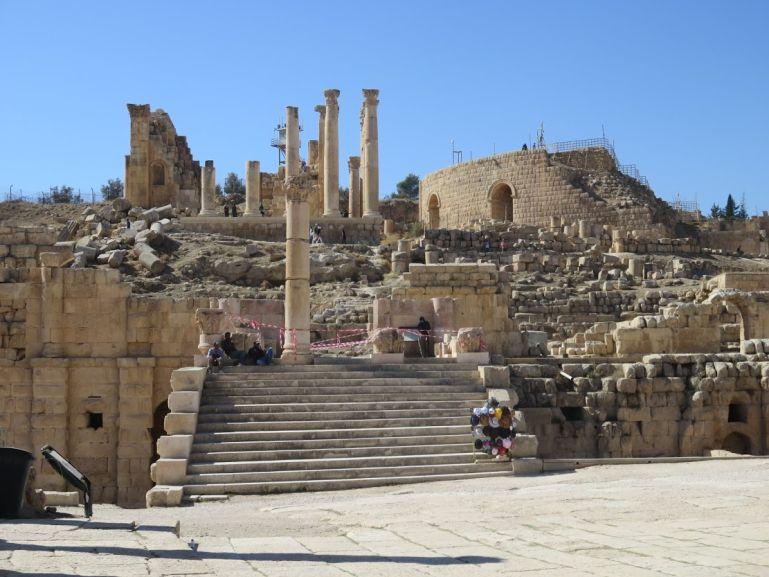 The temple of Zeus in Jerash Jordan