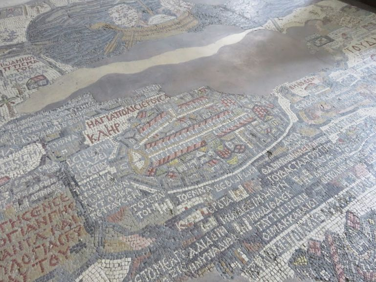 The Madaba map in the Saint George's church is among the top things to do in Madaba