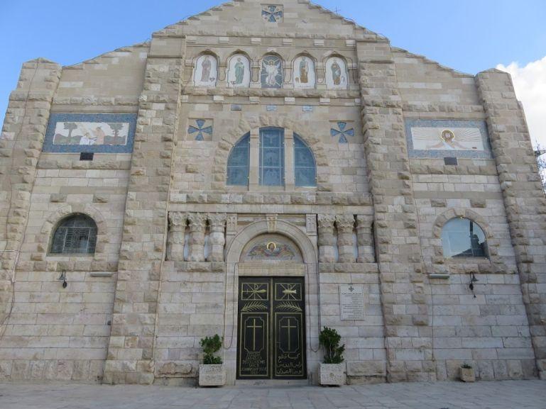 Church of St John the Baptist in Madaba Jordan