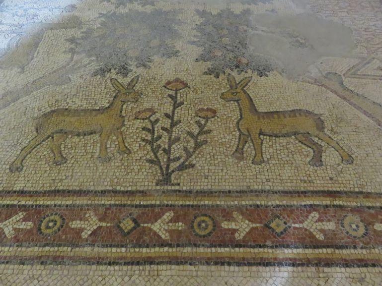 Mosaic at the church of the Apostles in Madaba Jordan