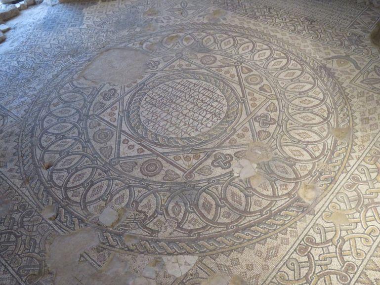 mosaic in the church of the virgin Mary in Madaba Jordan
