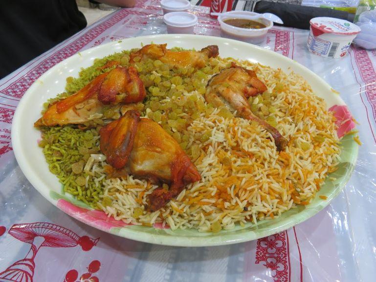 Chicken at Al Mandi restaurant in Madaba Jordan