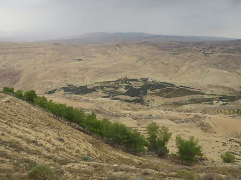 View over the Holy land from Mount Nebo