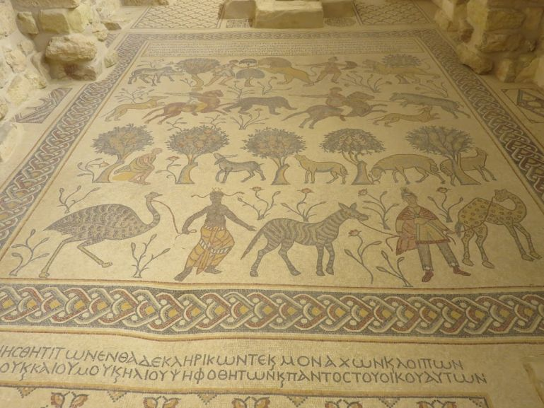Byzantine mosaics are the top things to do in Madaba Jordan