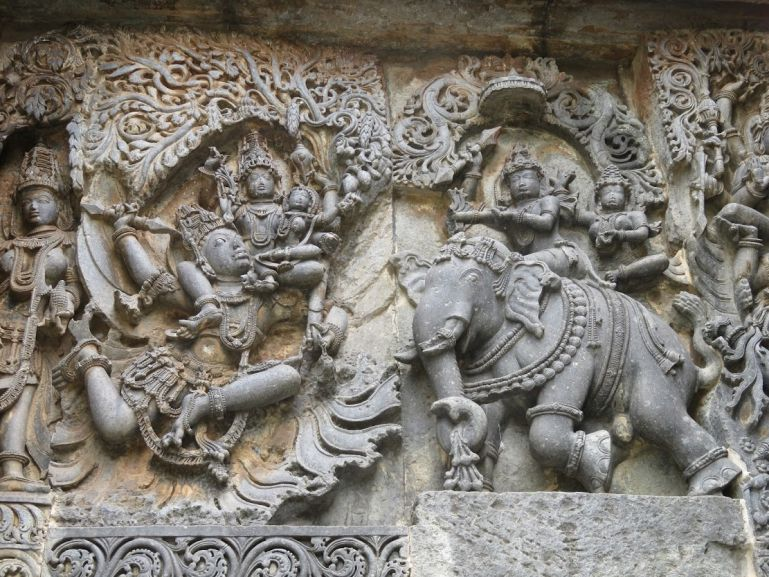 The Belur and Halebid temples in Karnataka, India