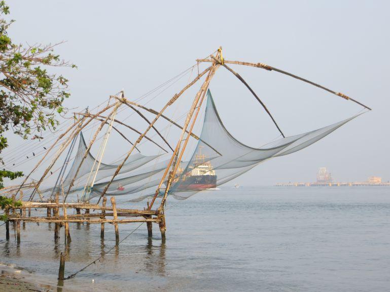 Chinese fishing nets in Fort Kochi in Kerala