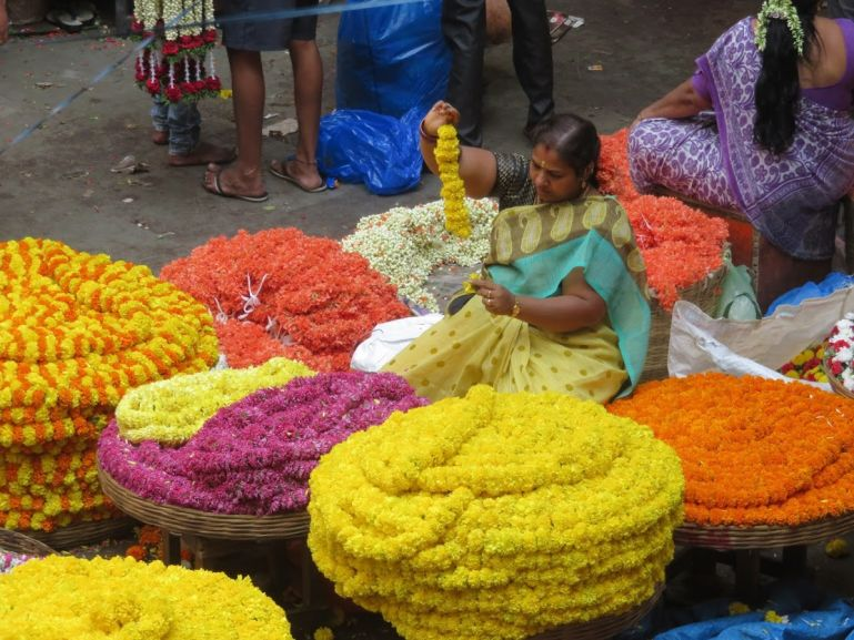 Flower market in Bangalore