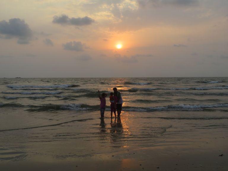 Beach near Udupi in Karnataka, India