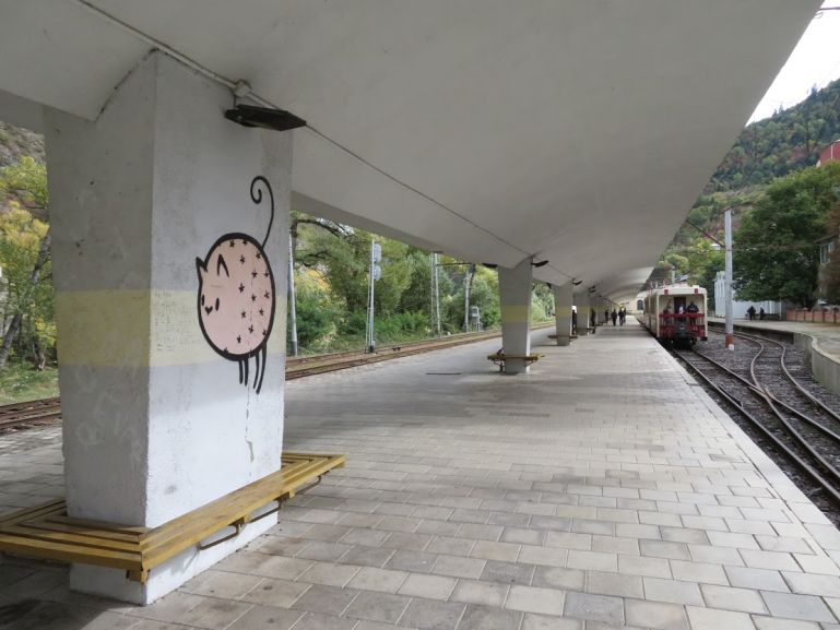 Kukushka train station in Borjomi