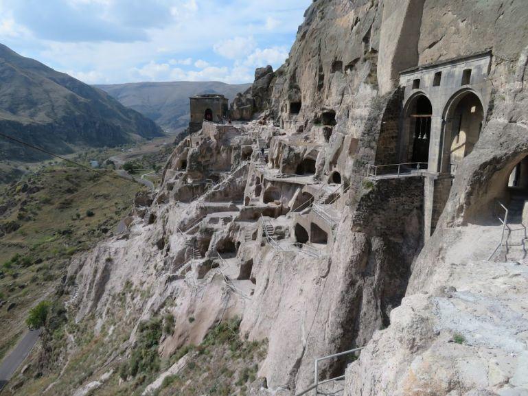 Beautiful view from Vardzia Cave town