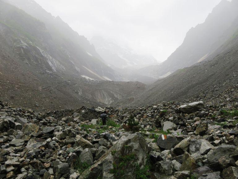 Chalaadi glacier moraine