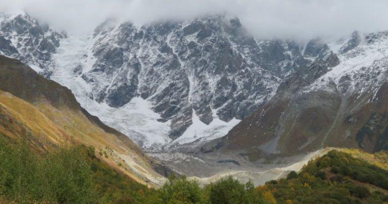 The Shkhara glacier hike in Svaneti Georgia